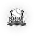 baseball logo template design vector image vector image