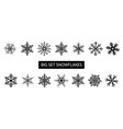 big set different forms snowflakes vector image vector image