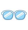 blue icon sunglasses cartoon vector image vector image