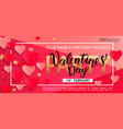 card for happy valentines day party vector image vector image