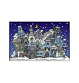 cartoon winter fairytale town vector image vector image