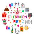 celebration concept icon vector image
