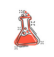 chemistry beakers sign icon in comic style flask vector image vector image