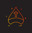 christian cap cross icon design vector image
