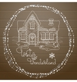 Christmas house hand drawn pattern on vector image vector image