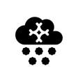 cloud snow icon vector image