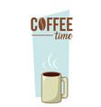 coffee time concept cartoon vector image