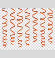 colorful curly ribbons set on transparent vector image vector image