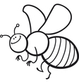 coloring page cartoon of funny bee vector image vector image