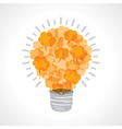 Creative light-bulb of message bubble vector image