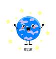 cute mercury planet kawaii characters vect vector image vector image