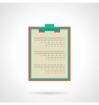 Doctor clipboard flat color icon vector image vector image