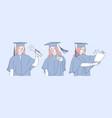 education graduation success diploma set vector image