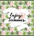enjoy summer handwritten card vector image vector image