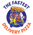 fastest delivery of pizza vector image