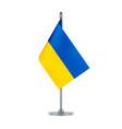 flag design ukrainian flag hanging on the vector image