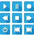 flat multimedia icons vector image