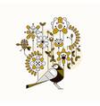 floral flat design concept digital vector image vector image