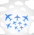Flying airplanes vector image vector image