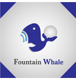 fountain whale icon logo vector image
