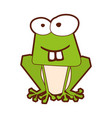 frog comic character icon vector image vector image