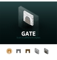 Gate icon in different style vector image vector image