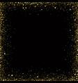 gold glitter background gold frame sparkles on vector image vector image