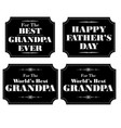 grandpa fathers day black white vector image vector image