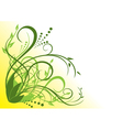 green and yellow floral vector image vector image