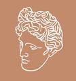 hand drawn flat antique head vector image vector image