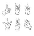 hands in different interpretations vector image vector image