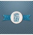 Happy Fathers Day realistic Emblem with Ribbon vector image vector image