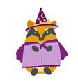 Happy halloween kawaii chanterelle fox witch in a