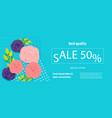horizontal rose bud ultraviolet sale banner vector image vector image