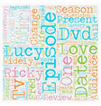 I Love Lucy Season DVD Review text background vector image vector image