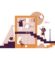 library - flat design style conceptual colorful vector image
