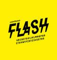lightning flash style font design alphabet vector image vector image