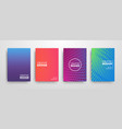 modern futuristic abstract geometric covers set vector image vector image