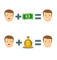 money makes you smile vector image vector image