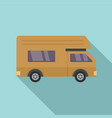 motor house icon flat style vector image vector image
