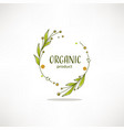 nature organic bio nature doodle floral leave vector image vector image