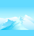 of snowy mountains vector image vector image