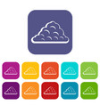 one cloud icons set flat vector image vector image