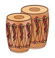 pair musical instrument punjabi drum dhol indian vector image