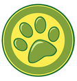 Paw Print Banner vector image vector image