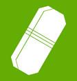 pencil eraser icon green vector image vector image
