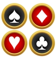Playing cards icons vector image