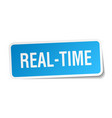 real-time square sticker on white vector image vector image