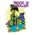 Rock n roller crow vector image