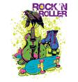 Rock n roller crow vector image vector image